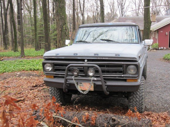 My beast...a '72 Ford 100 that we use for hauling compost and firewood.  Barely legal, but she does the job!