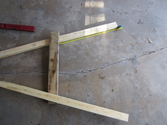 Small 3' lumber placed across connected boards
