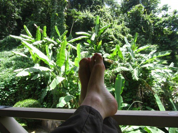 After we finally made it...a relaxing memory from the rain forest