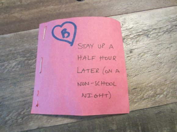 homemade Valentine's Day coupon for kids