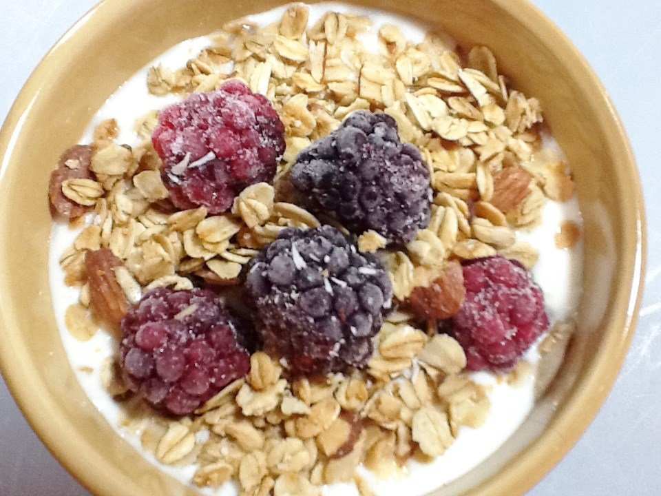 Fresh Homemade Yogurt And Granola With Farm Fresh Berries