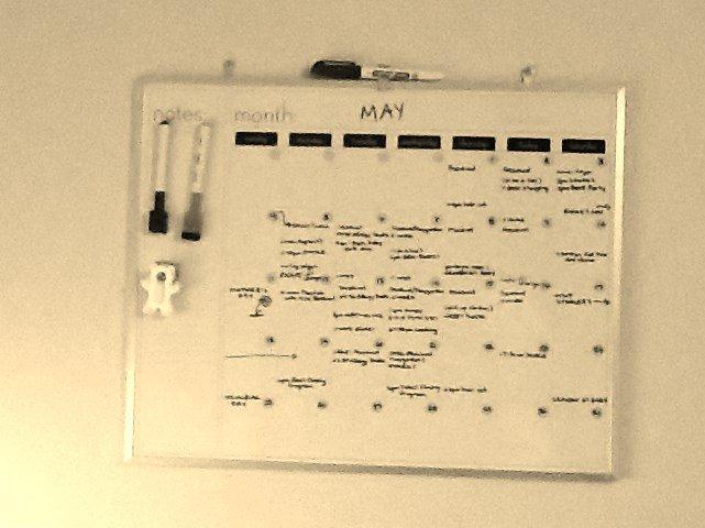 whiteboard calendar