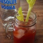 Homemade Bloody Mary using leftover tomato juice after canning salsa