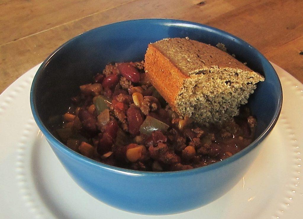 Slow Cooker Chili and Buckwheat Cornbread