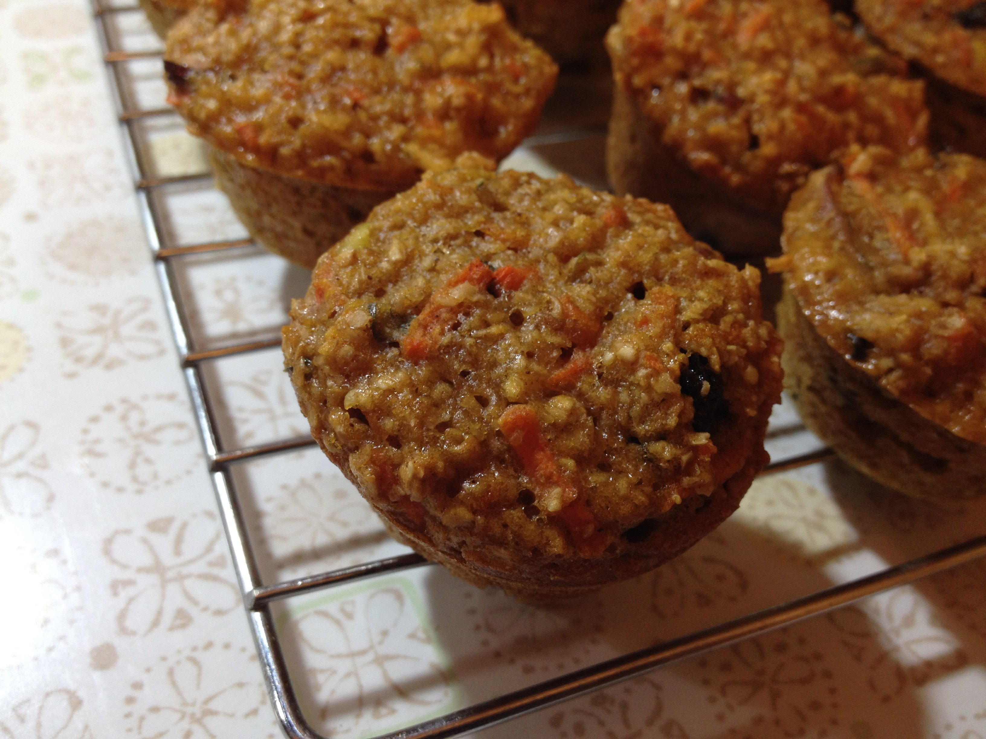 morning glory muffins for the farmers' market cooking demo!