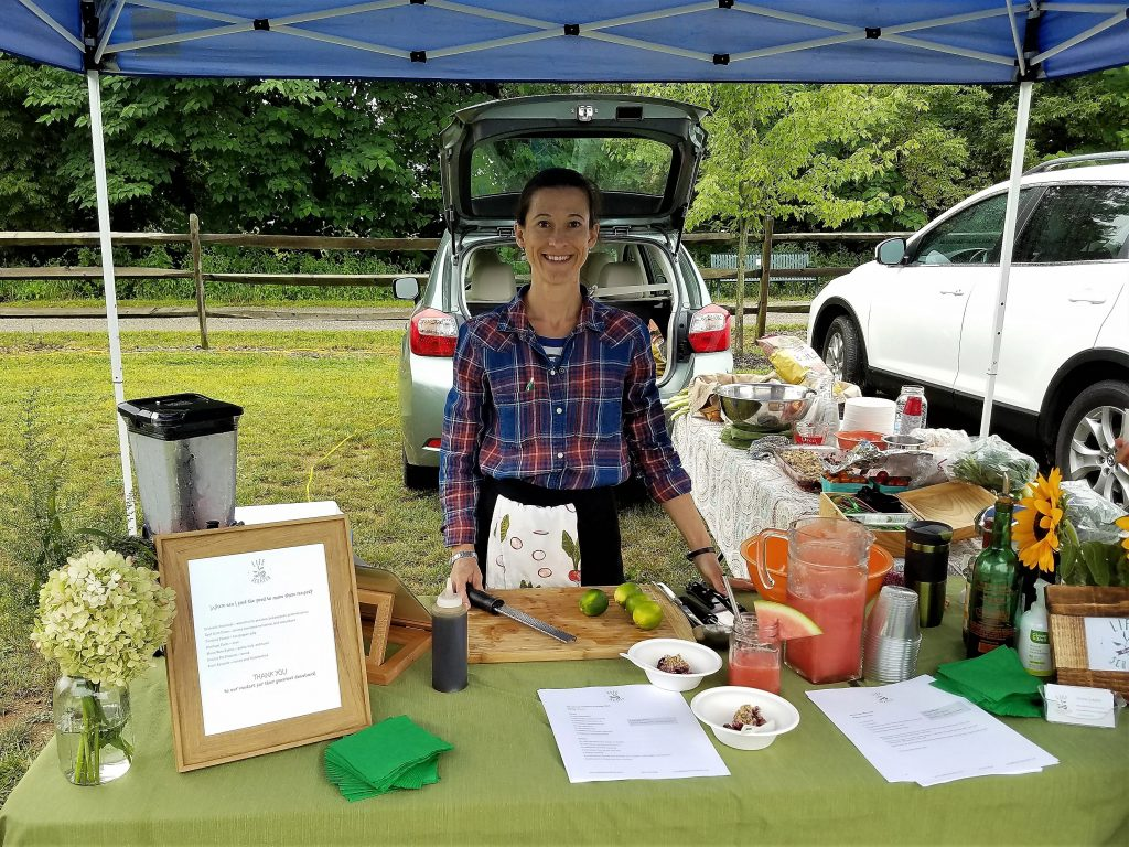 Maria from Life From Scratch at the Saucon Valley Farmers' Market in Hellertown - September 2017