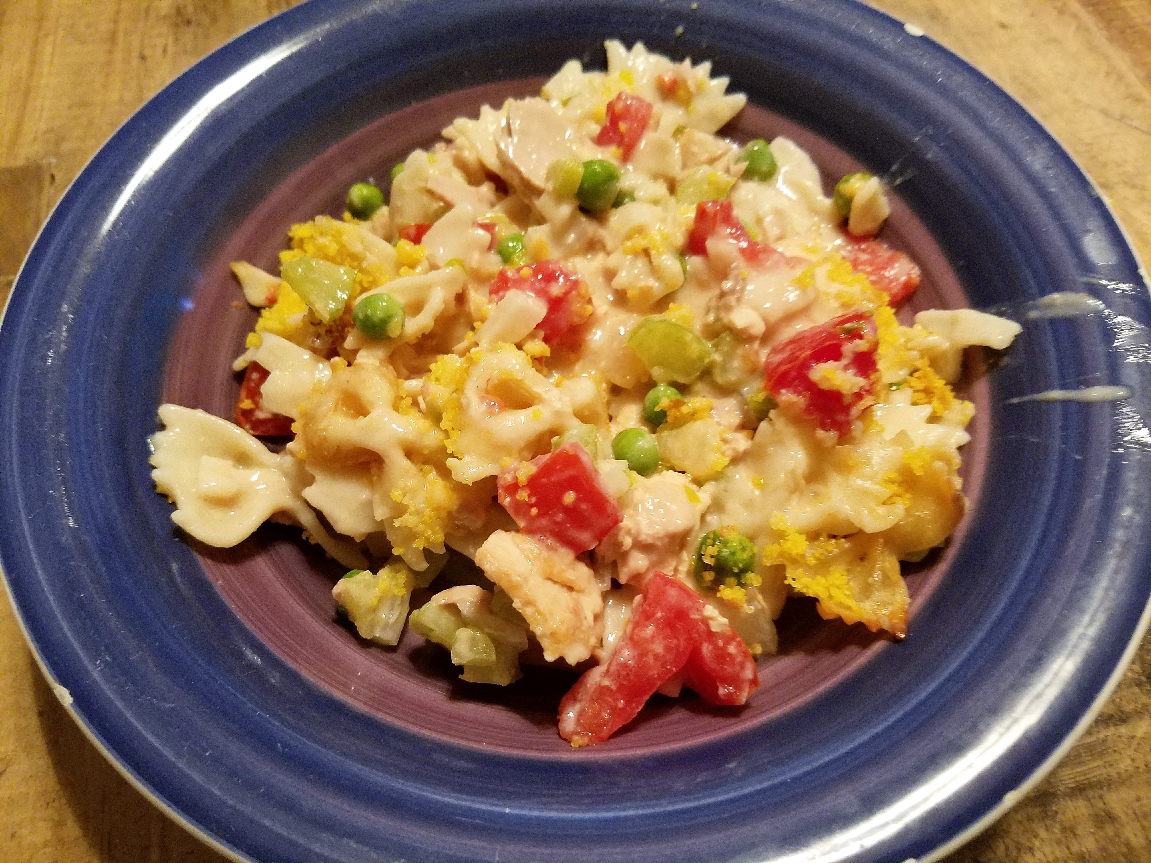 my serving of Veggie Tuna-Noodle Casserole