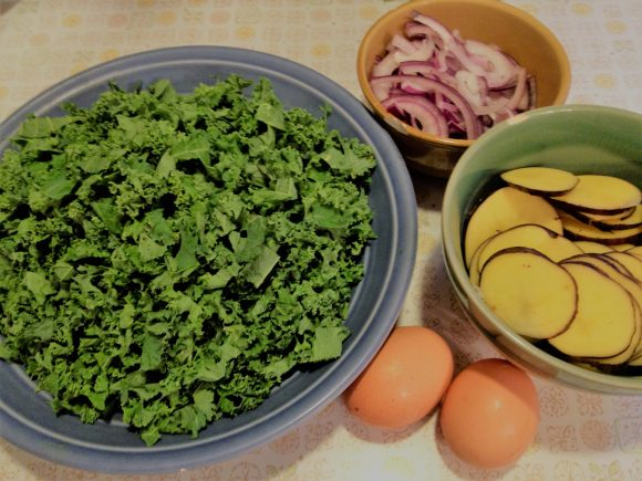 kale, potatoes, and eggs - oh my!