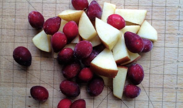 cranberries and apples