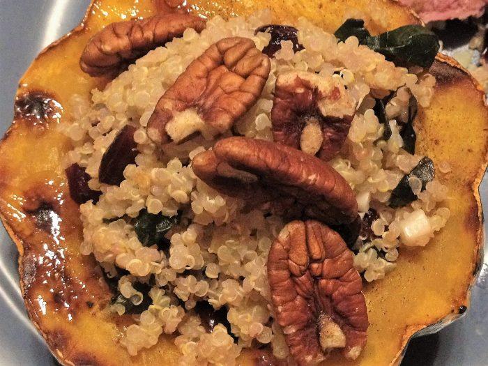 Quinoa and Kale-Stuffed Acorn Squash