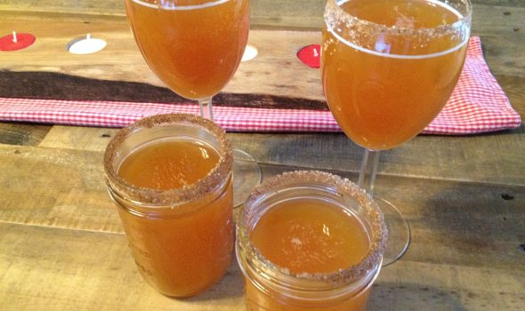 Apple Cider Mimosas
