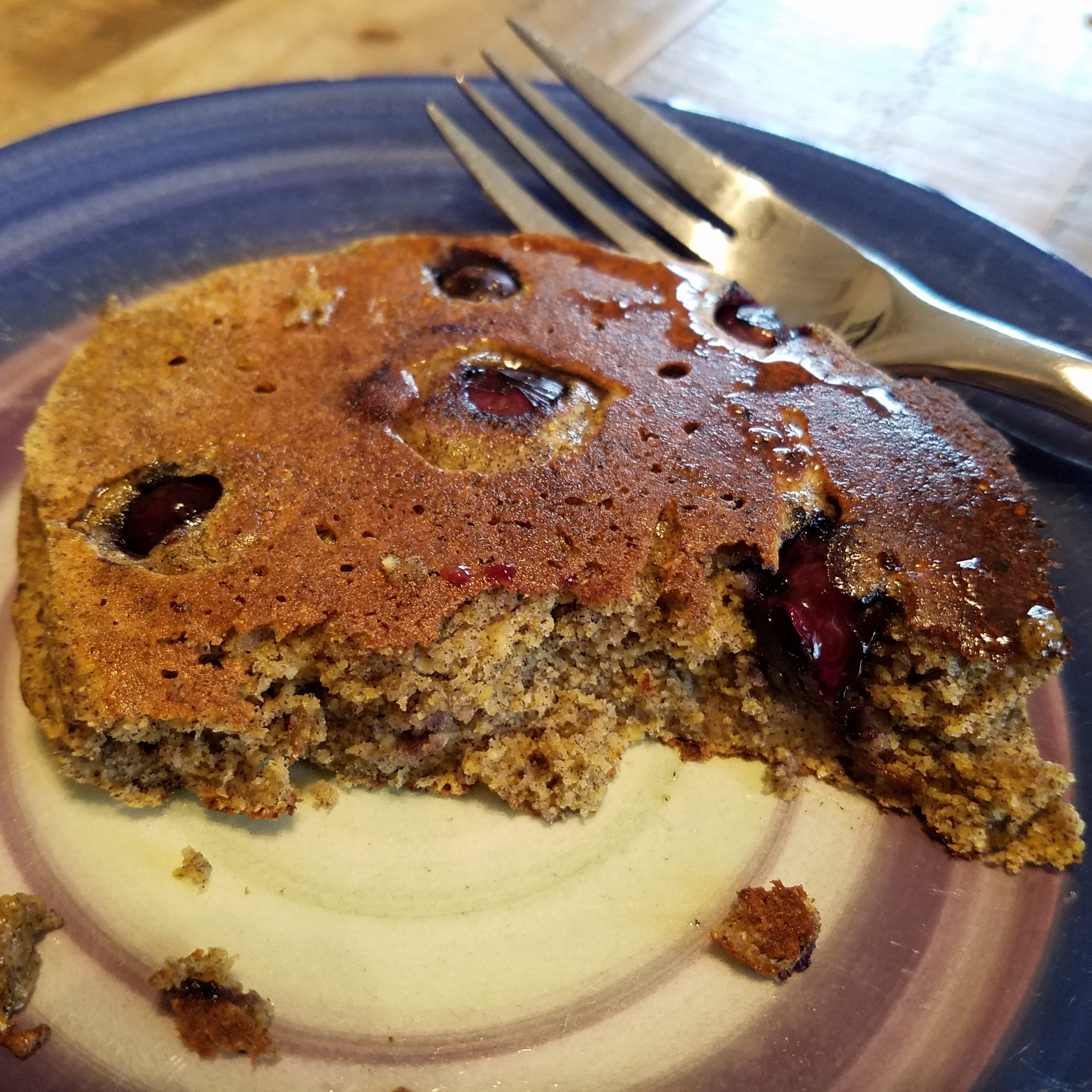 Gluten-Free Blueberry Apple-Cinnamon Pancakes