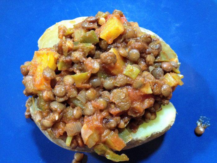 Vegetarian Loaded Baked Potatoes
