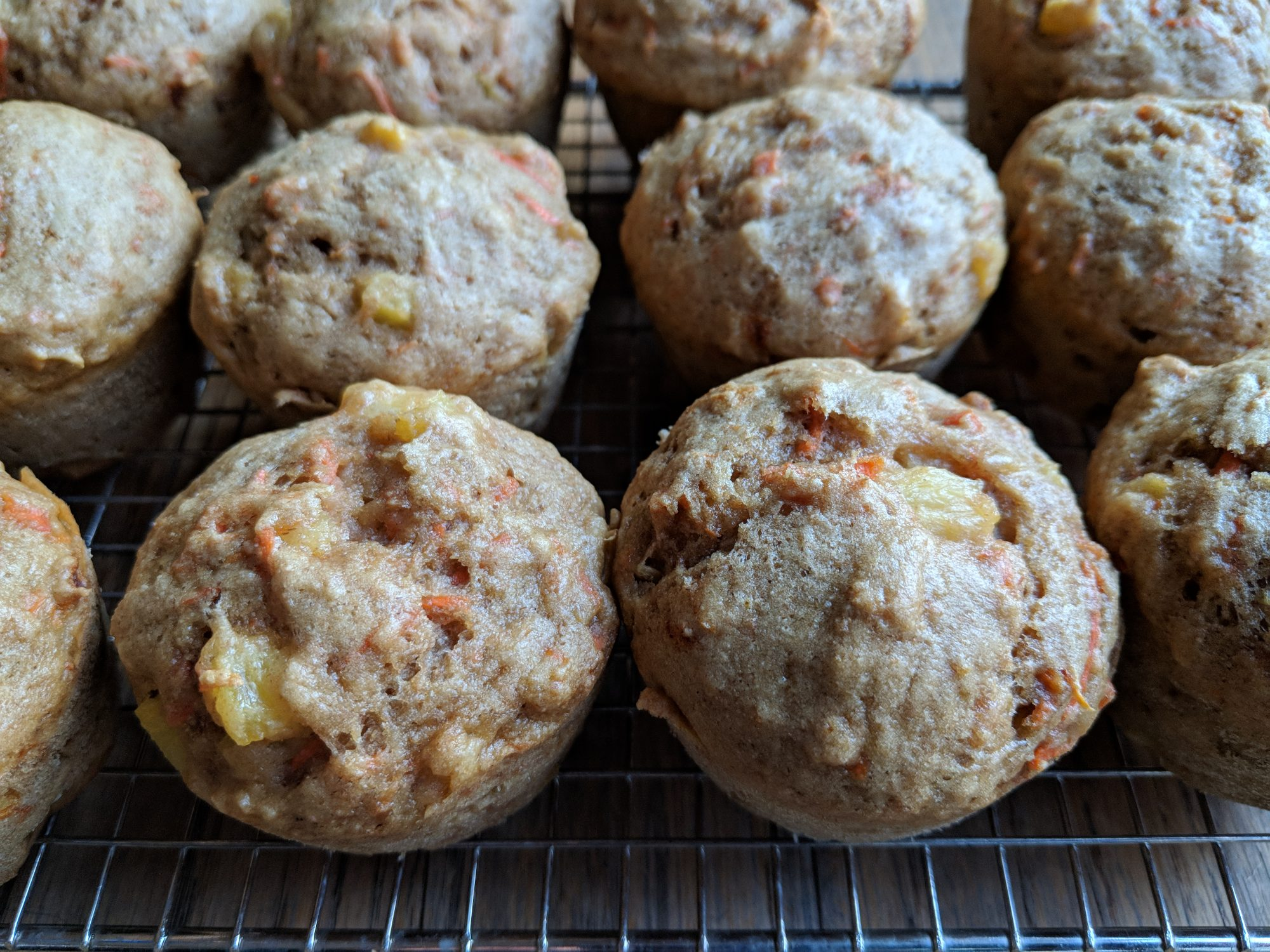Carrot-Pineapple Muffins
