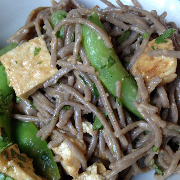 Soba Noodles with Sugar Snap Peas and Cashew Sauce
