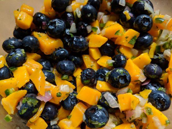 Blueberry-Mango Salsa