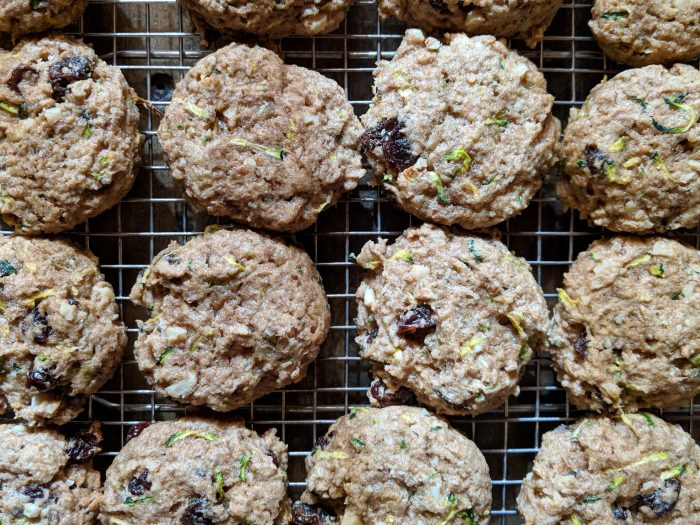 Zucchini-Raisin-Walnut Cookies