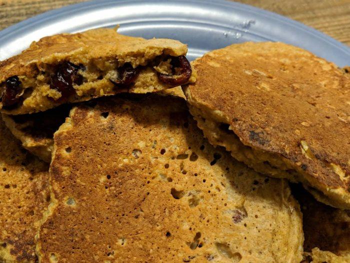 Cranberry-Apple Pecan Pancakes