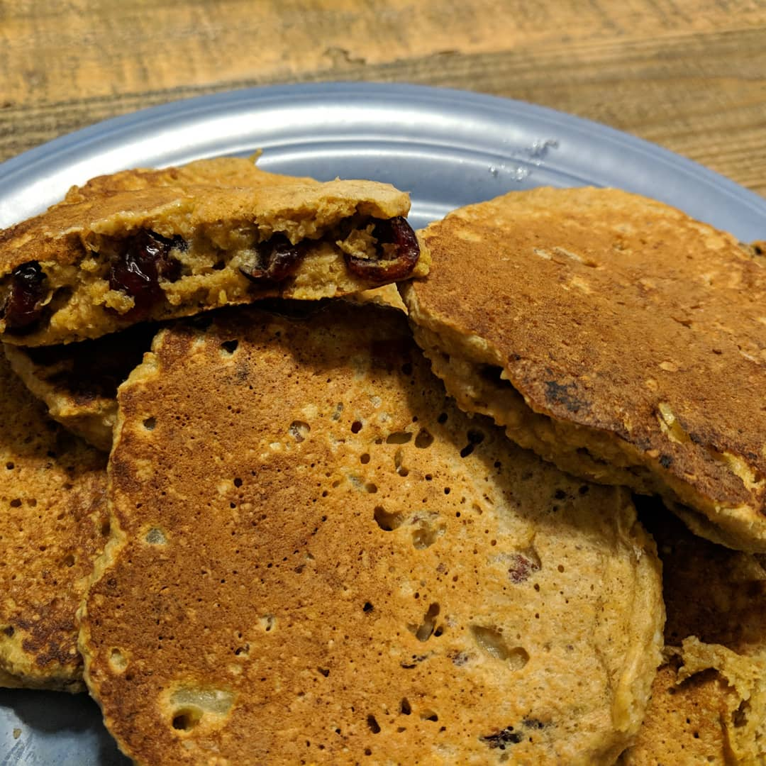 Cranberry-Apple Pecan Pancakes