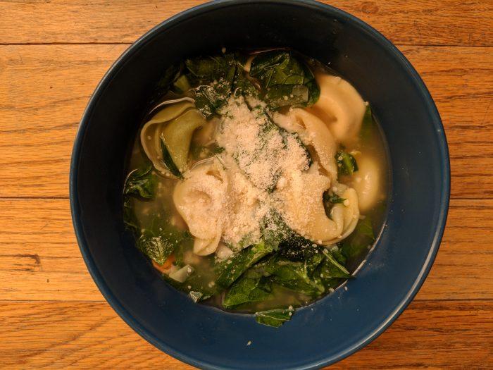 Spinach Artichoke Tortellini Soup
