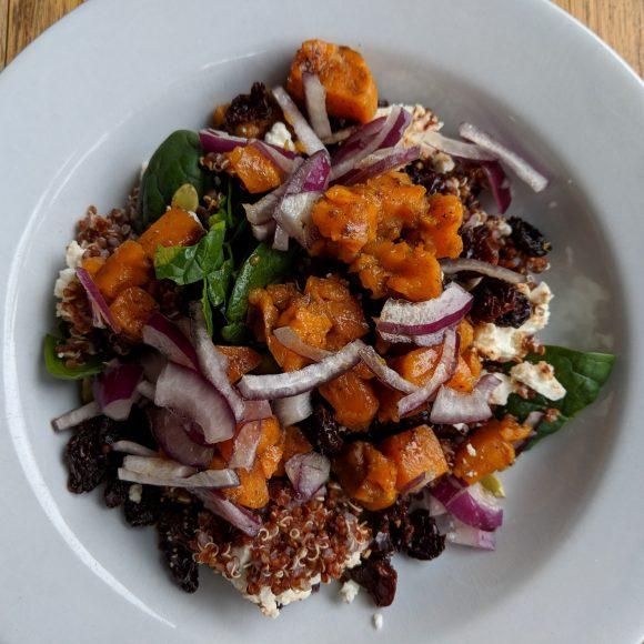 Maple Quinoa Spinach Salad