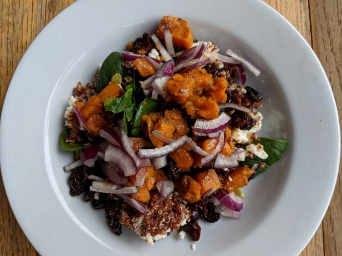 Maple Quinoa Spinach Salad