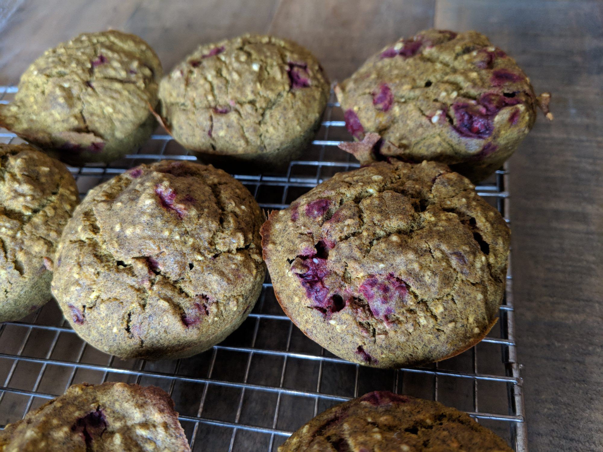 Buckwheat Turmeric Raspberry Muffins