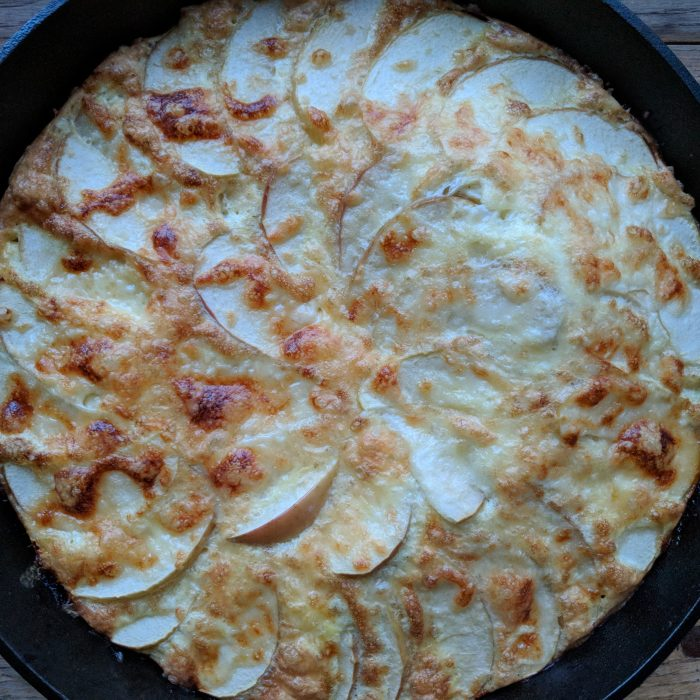 Sausage, Apple and Cheddar Frittata
