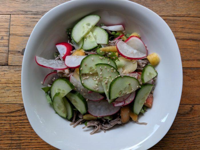 Spring Soba Noodle Salad