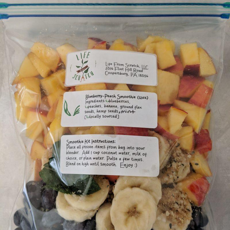 Blueberry Peach Smoothie Kits
