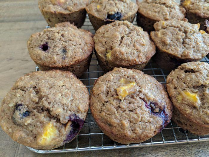 Blueberry-Peach Muffins