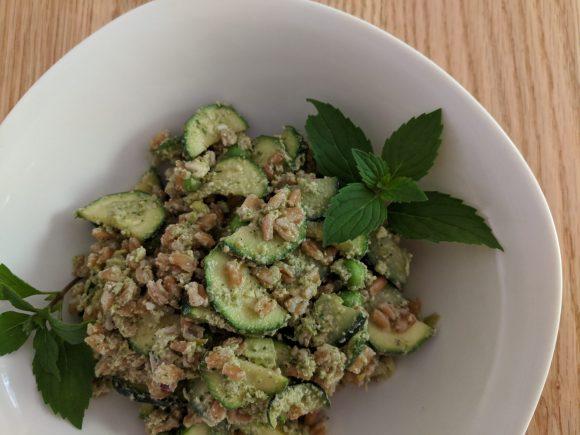 Lemon-Pesto Summer Farro Salad