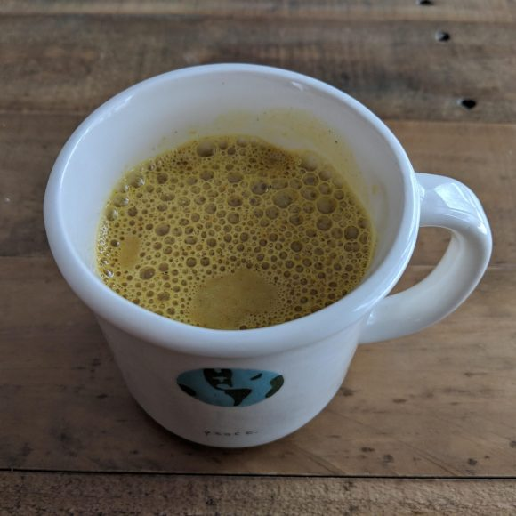 Warm Turmeric Milk Latte